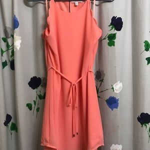 Peach scalloped dress